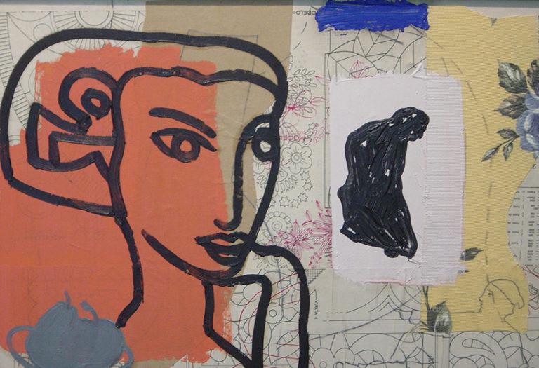 Manolo Belzunce obra de la serie homenaje a Matissa en la galería de arte de Barcelona Sala Dalmau
