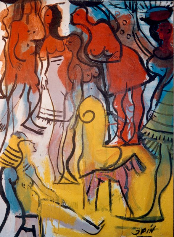 La exposición de obras de J.Fín de 1939 a 1965 recorre toda la carrera del artista