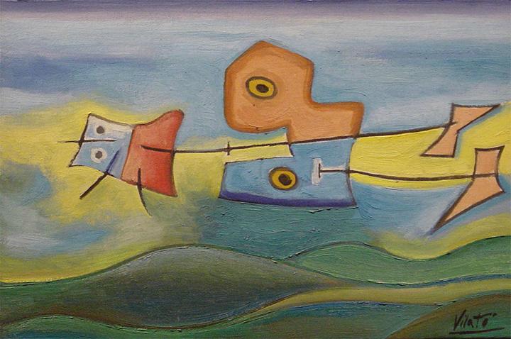 óleo sobre tela del pintor Javier Vilató
