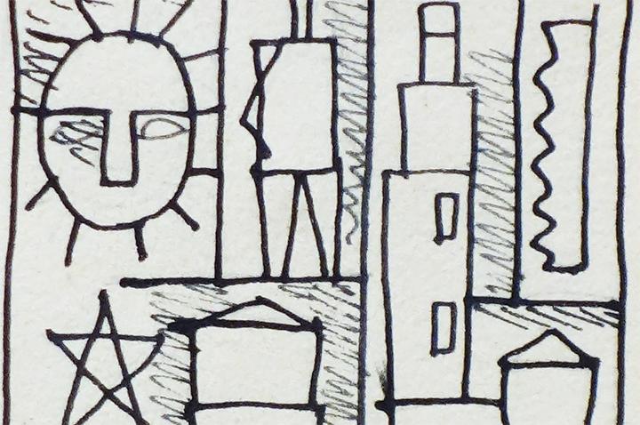 Dibujo constructivo de Joaquín Torres-García
