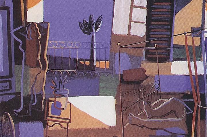 Obra del pintor Jorge Gay datada al 1998