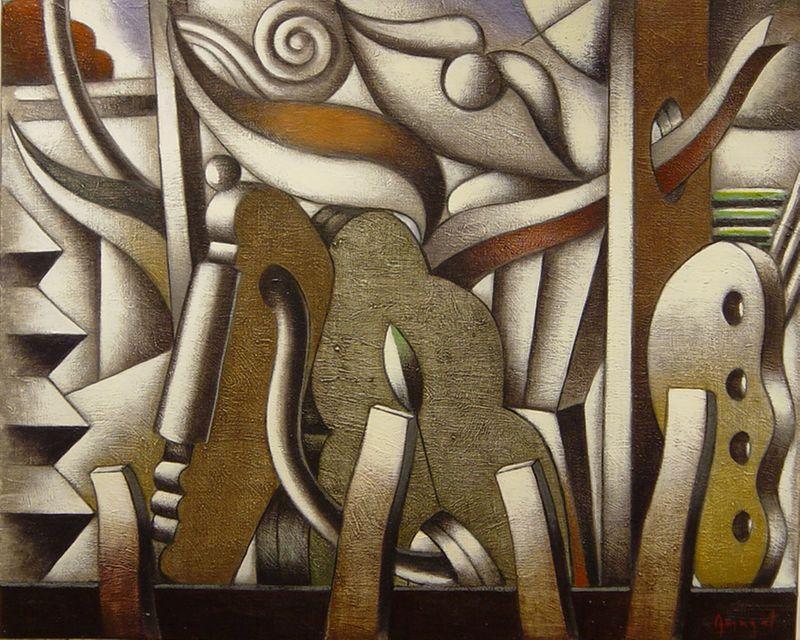 Pintura de Jordi Amagat datada en 2002
