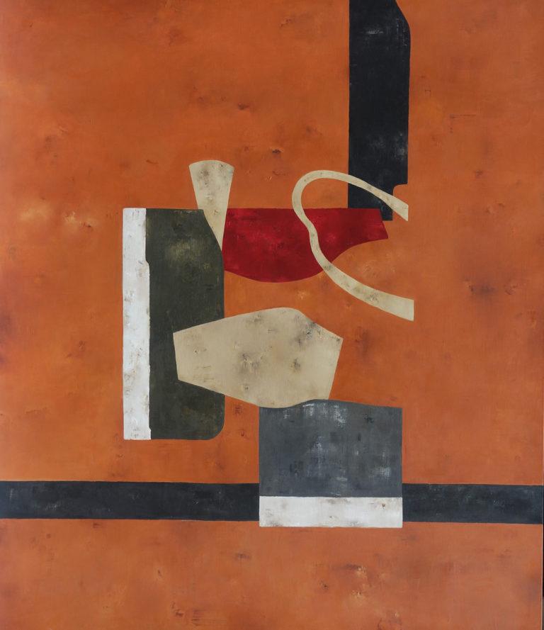 Obra del artista José Luis Aguiló en la galería de arte de Barcelona Sala Dalmau