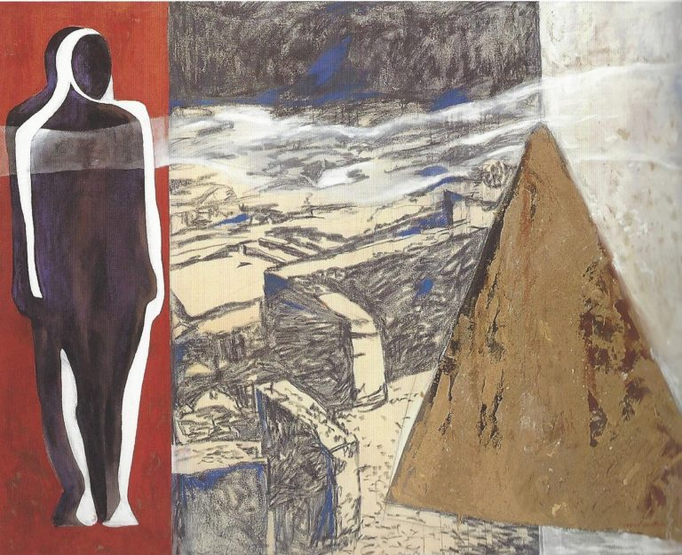 Pintura de la artista Virginia Lasheras en la galería de arte de Barcelona Sala Dalmau