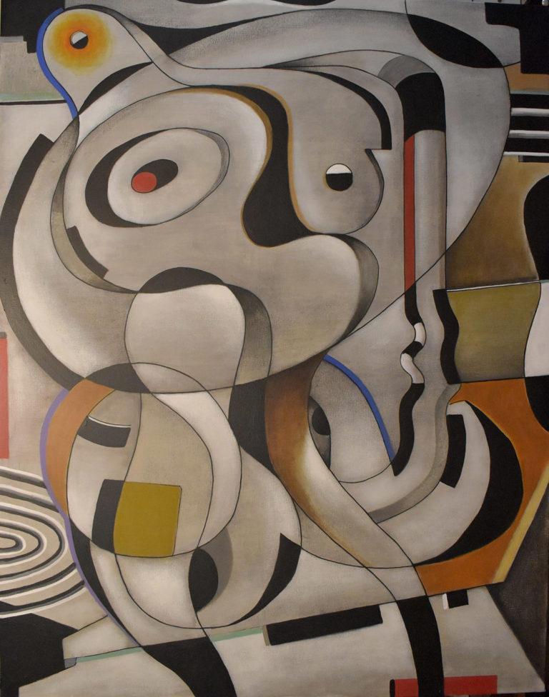 Acrílico sobre tela de Jordi Amagat, pintor de la galería de arte de Barcelona Sala Dalmau