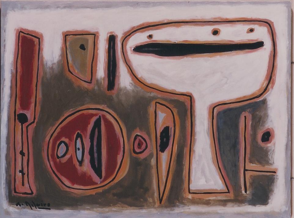 Alceu Ribeiro óleo sobre tela en la galería de arte de Barcelona Sala Dalmau