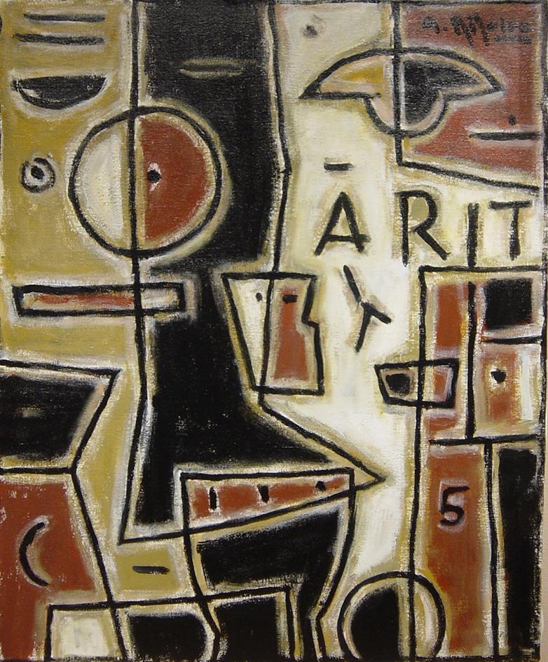 PIntura de Alceu Ribeiro en la galería de arte de Barcelona Sala Dalmau