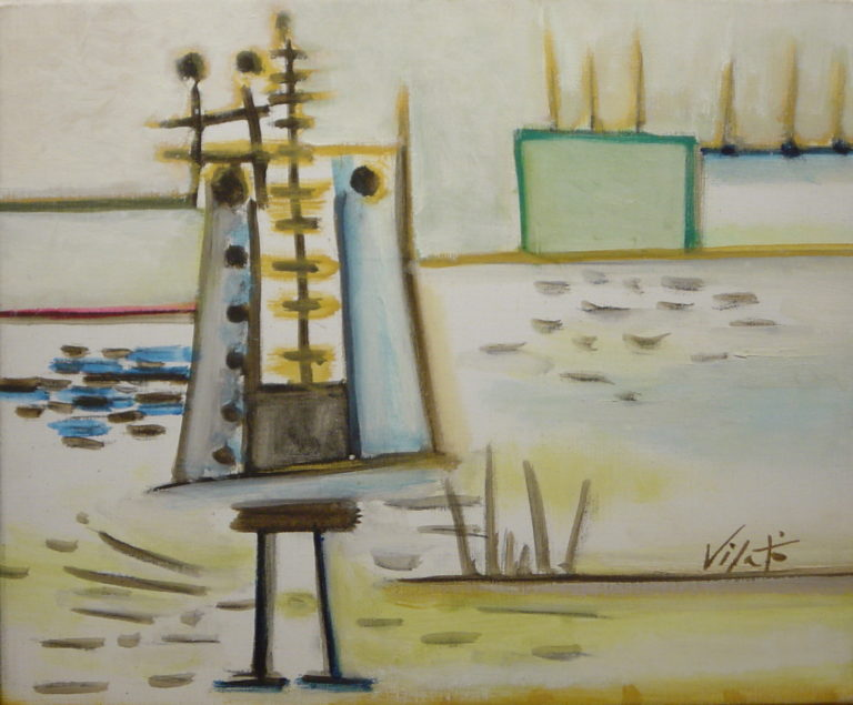 Obras de Javier vilató. artista de la escuela de París, en la galería de arte de Barcelona Sala Dalmau