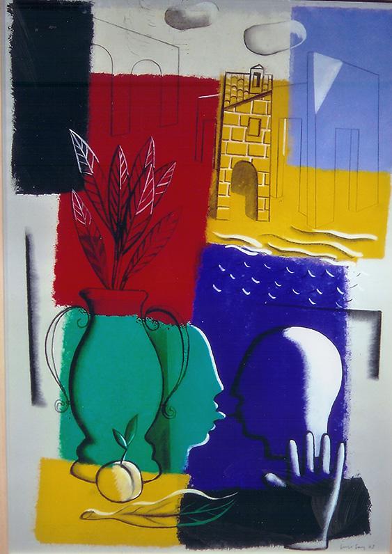 Obras del pintor Jorge Gay en la galería de arte de Barcelona Sala Dalmau