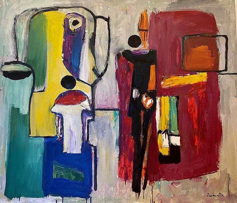 Obras del pintor Jose Luis Zumeta en Barcelona galería de arte Sala Dalmau