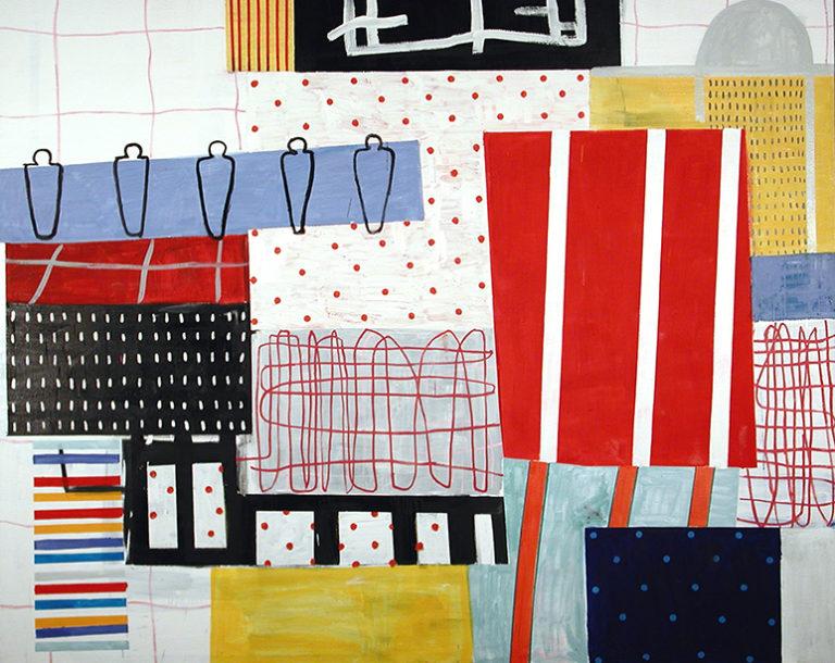Miguel Villarino acrílico sobre lienzo en la galería de arte de Barcelona Sala Dalmau