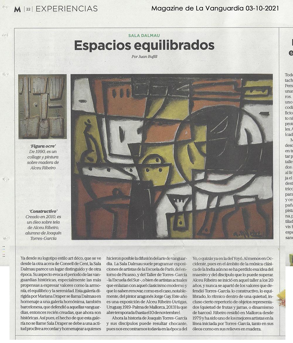 Artículo de Alceu Ribeiro en La Vanguardia